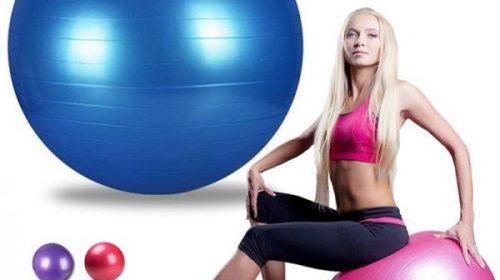 Bài tập giảm cân với bóng yoga