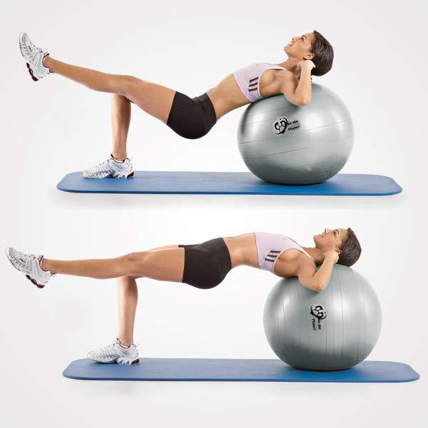 bài tập toàn thân yoga với bóng