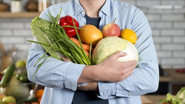 tập gym và ăn chay